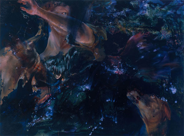 "as well to us.  oil on panel. 72 x 96"". 2004"