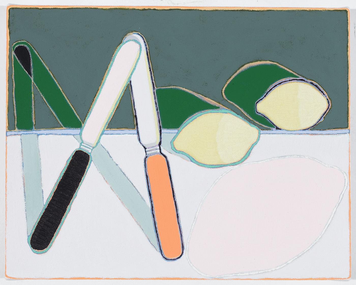 "Butter Knives and Lemons,   11 x 14"",   oil on canvas,   2014"