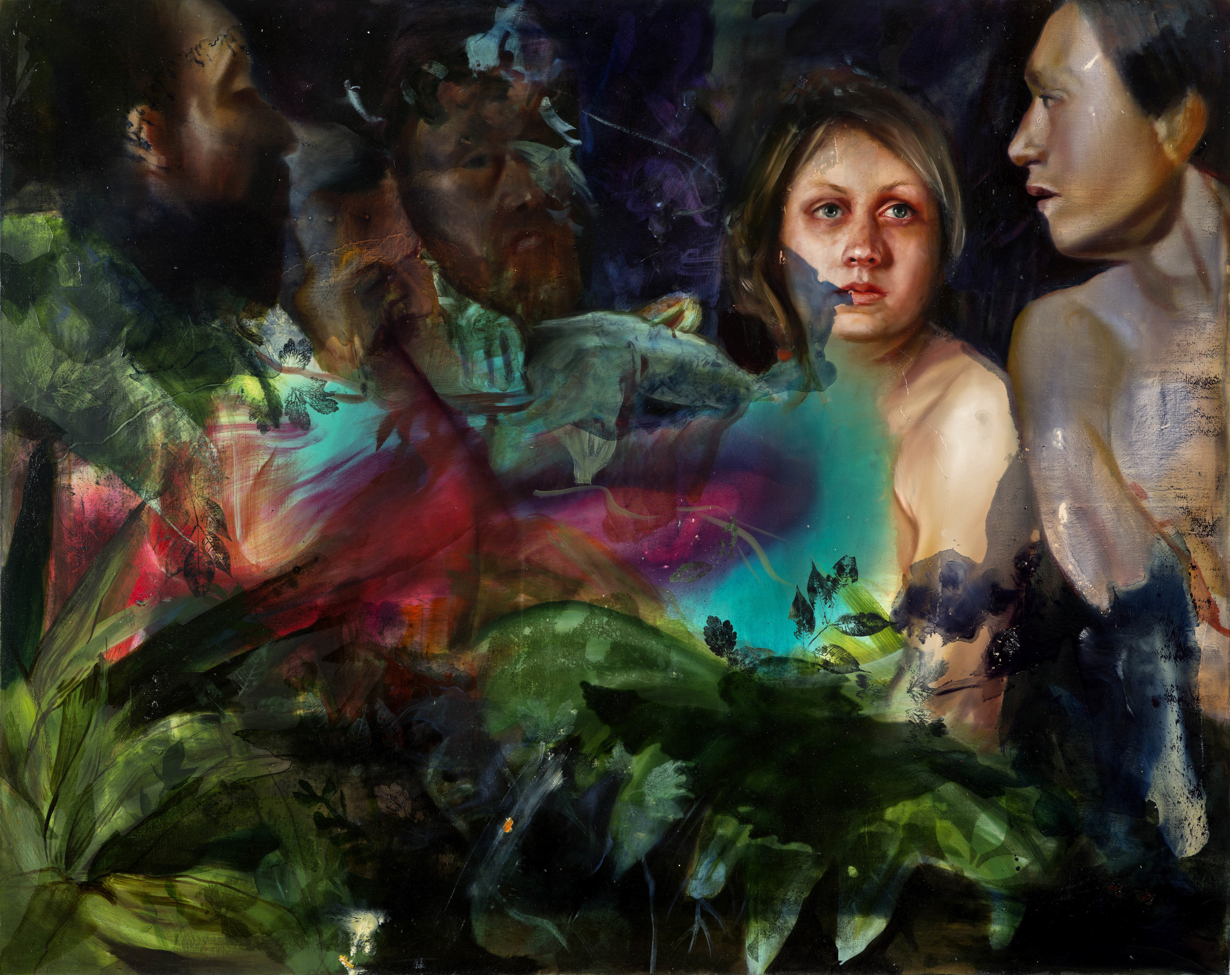 "you'll see me from a trillion miles away, Oil and galkyd on canvas, 48""x 60"", 2014."