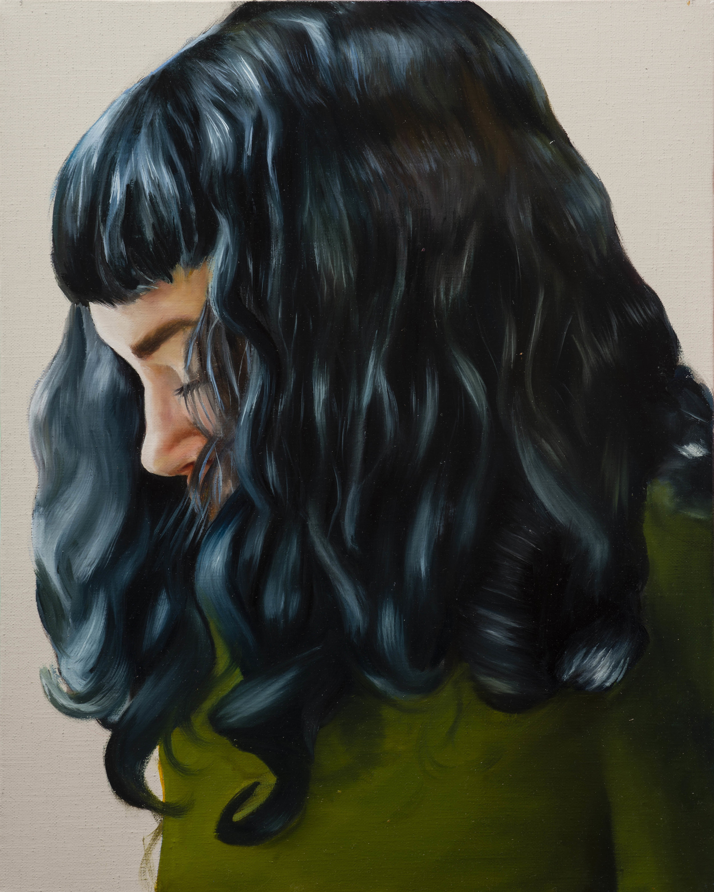 """When you have closed my eyes to the light, kiss them with a long kiss   20"""" x 16"""". oil on linen. 2018"""