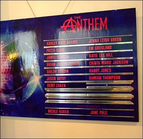 The cast of The Anthem   Photo: Matthew Blank/ Playbill