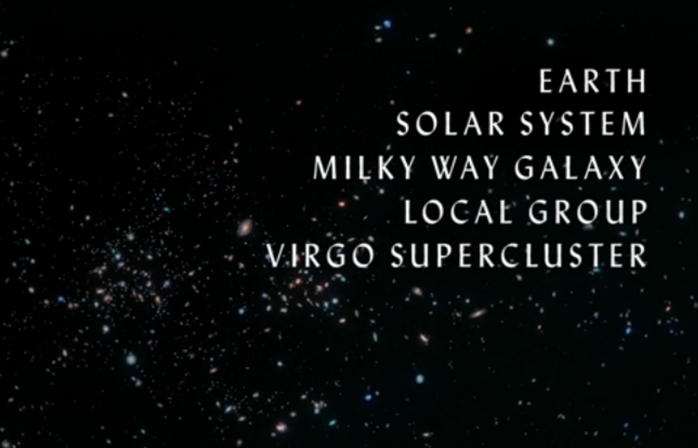 Screenshot of our Cosmic Address from COSMOS Episode 1