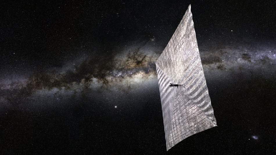 Image: Artist Concept of a Solar Sail from Planetary Society