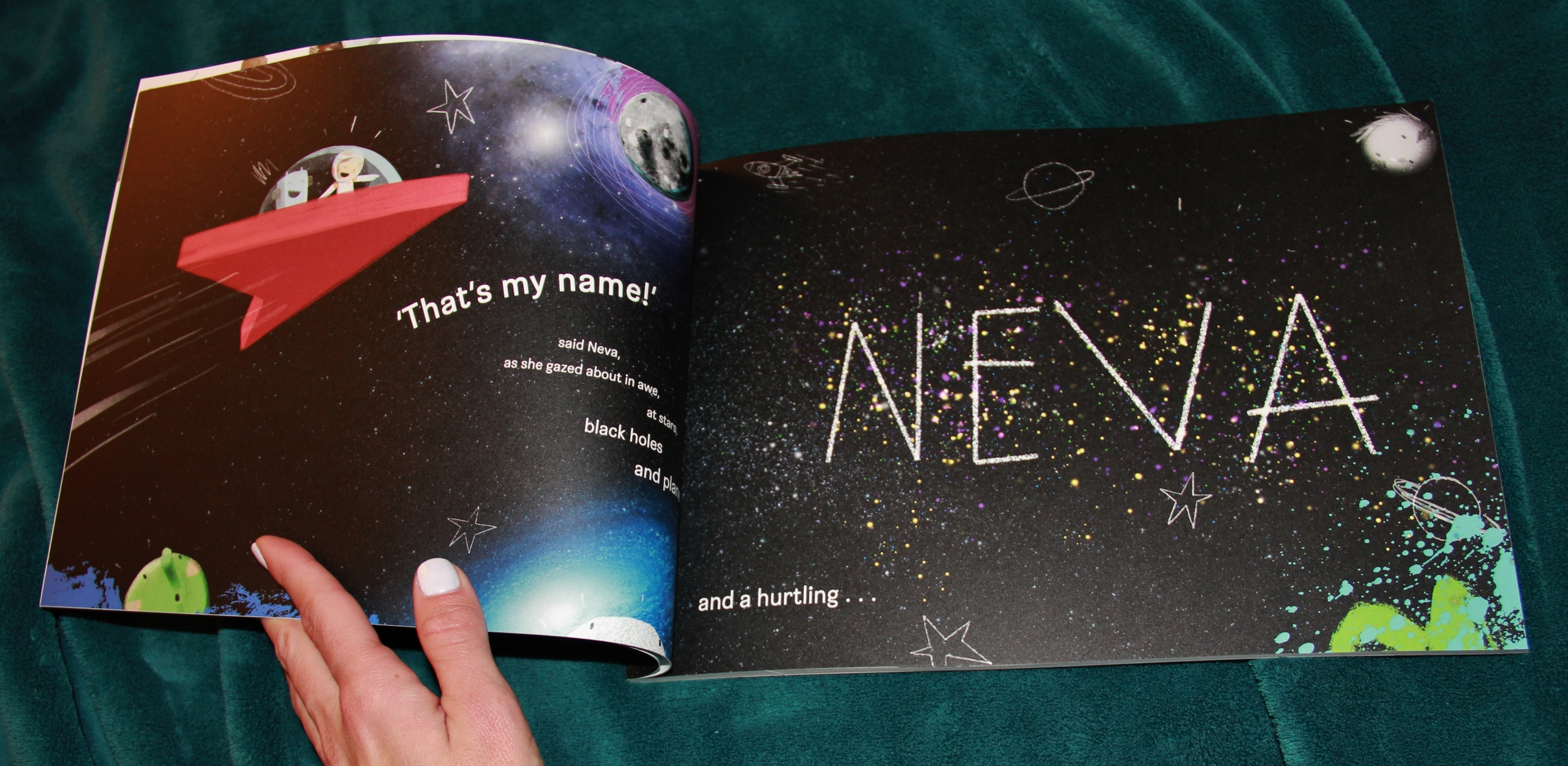 I made this book for my little cousin, Neva.