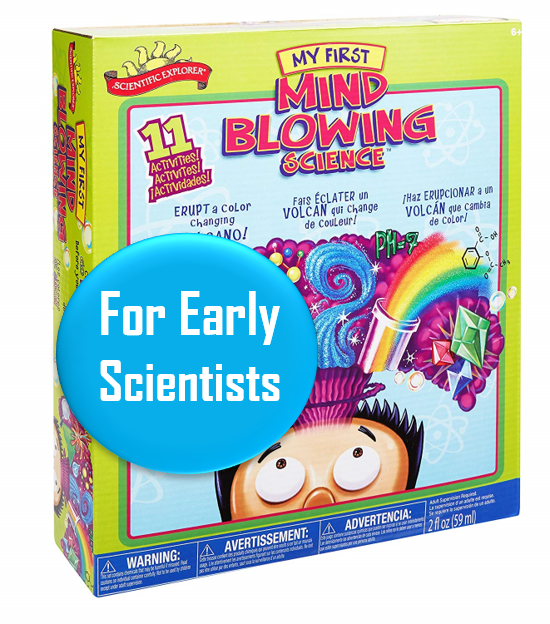 Mind Blowing Science Kit - Ages 6-8   A fun kit with 11 different science experiments for a good price $12 on Amazon Prime right now. For ages 6+. This little kit has over 1300 5-star reviews. Great little gift for the Holidays.