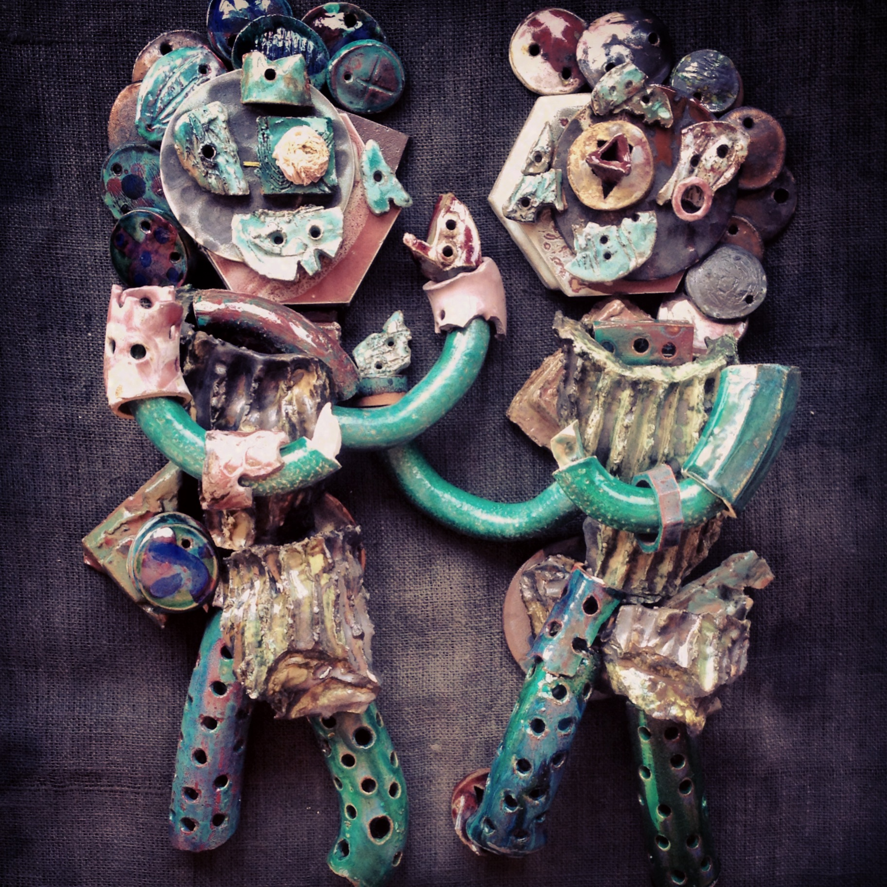 """""""Ceramic illustration -- Gemini""""      Dove Drury Hornbuckle"""