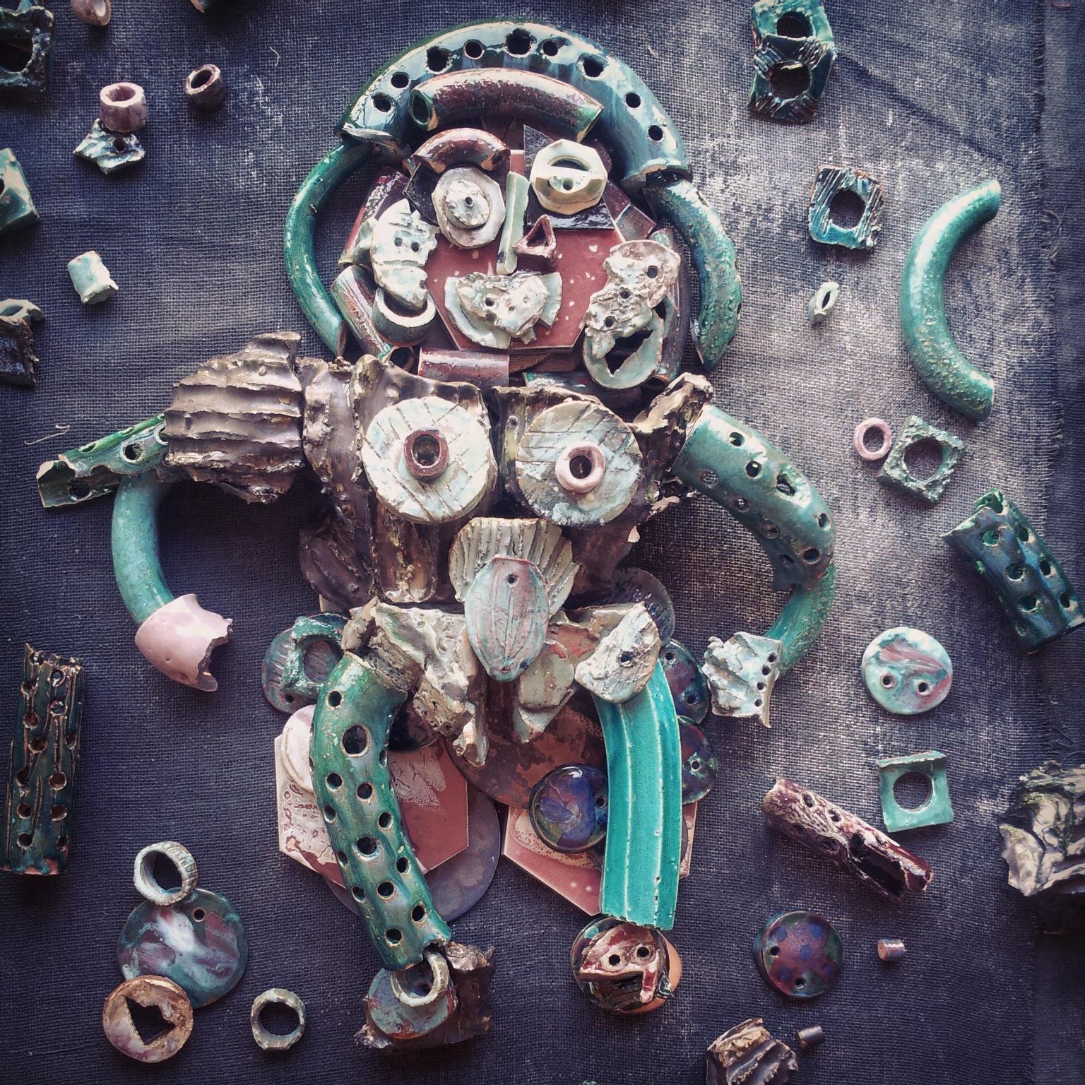 """Ceramic Sculpture- """"Virgo""""            Dove Drury Hornbuckle"""