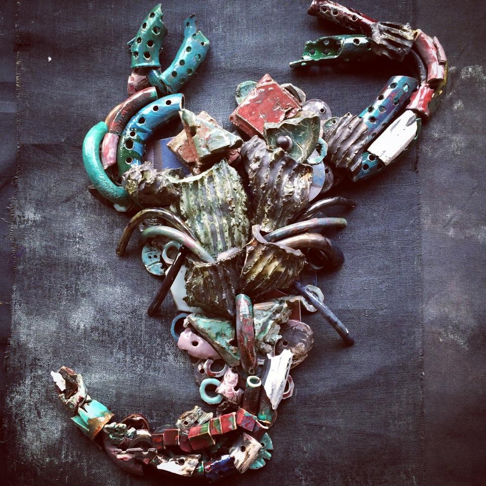 """Ceramic Sculpture- """"Scorpio""""            Dove Drury Hornbuckle"""