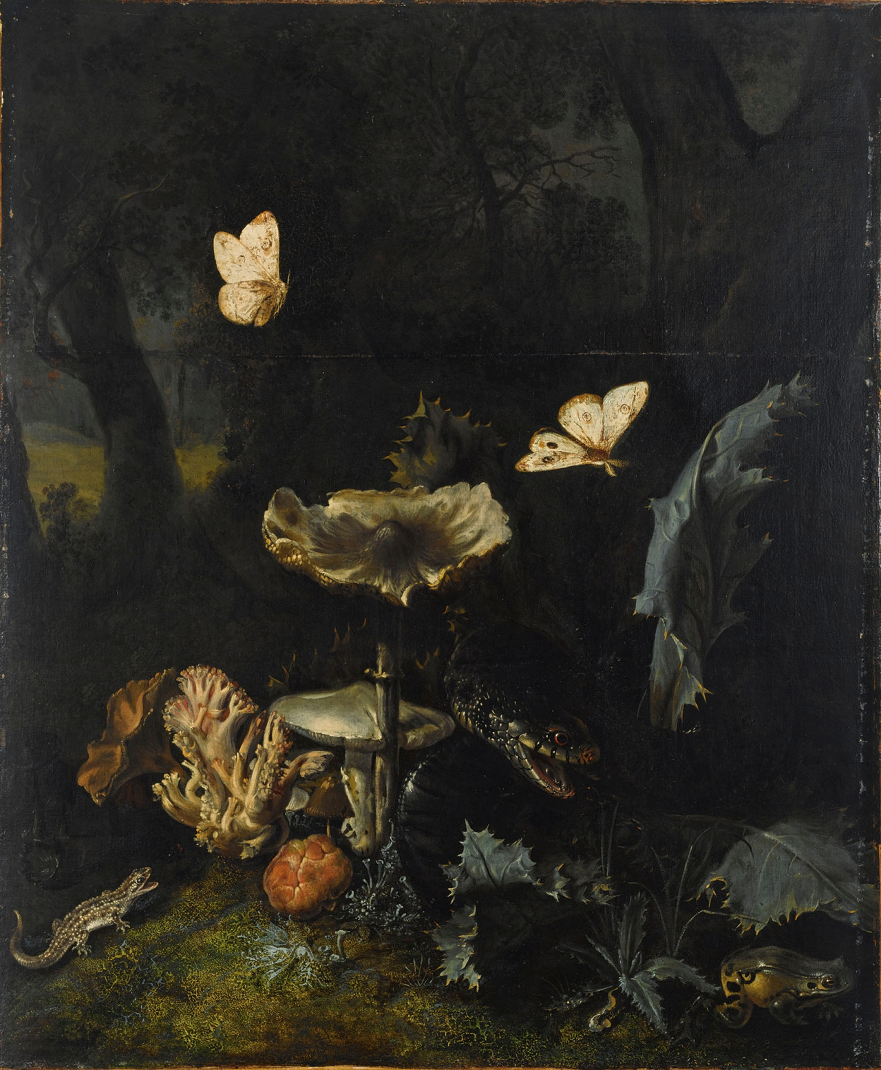 finding the right ingredients.....still-life by Otto Marseus van Schrieck