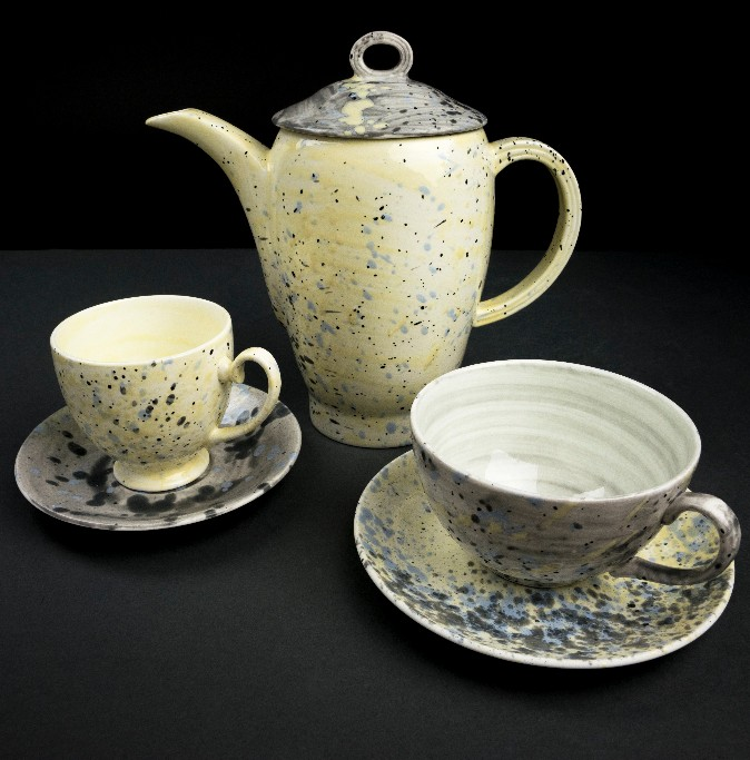 """The Accidental Expressionist"" tea set by Martyn Thompson, for  1882 Limited."