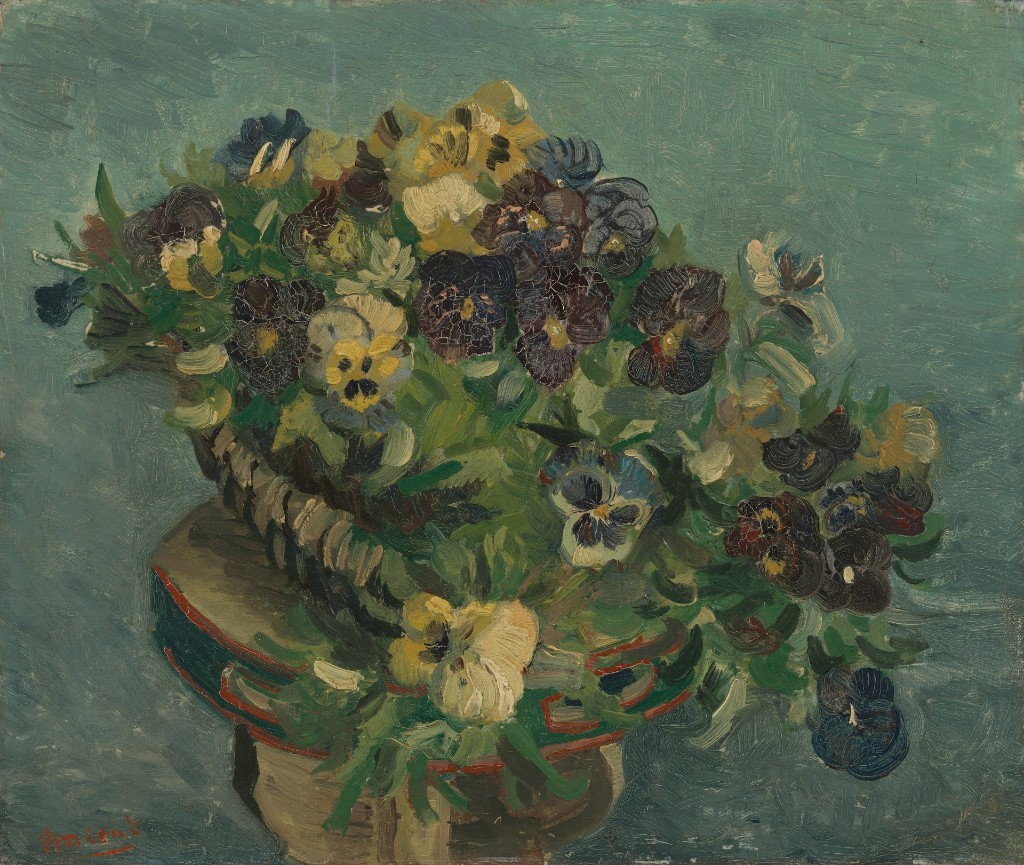 Basket of Pansies. Paris, May 1887 Vincent van Gogh (1853 - 1890).Van Gogh Museum, Amsterdam