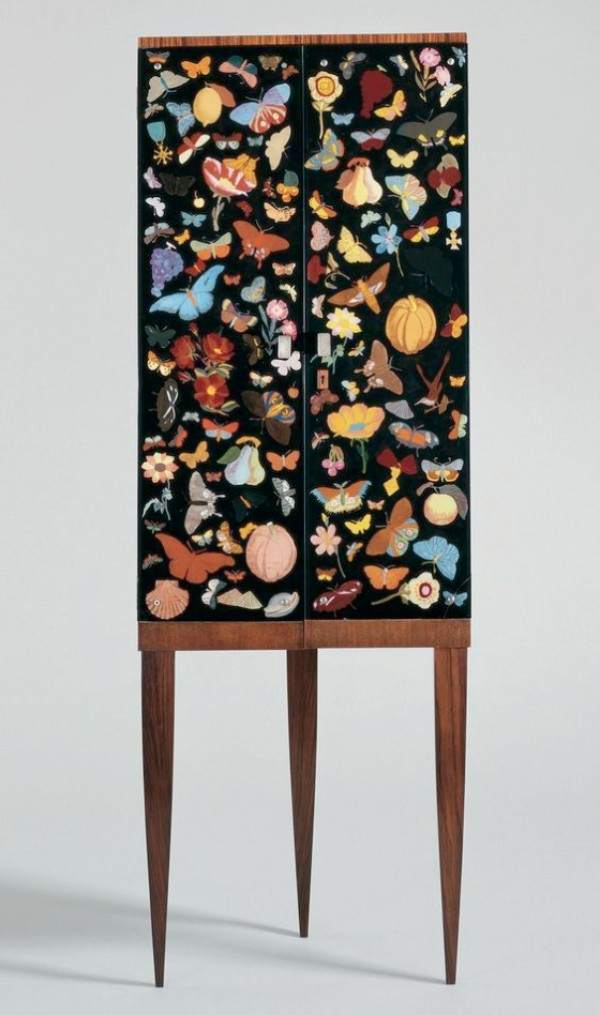 Cabinet by Gio Ponti (1891-1979) and Piero Fornasetti (1913-1988) Italy, probably Milan, 1941.