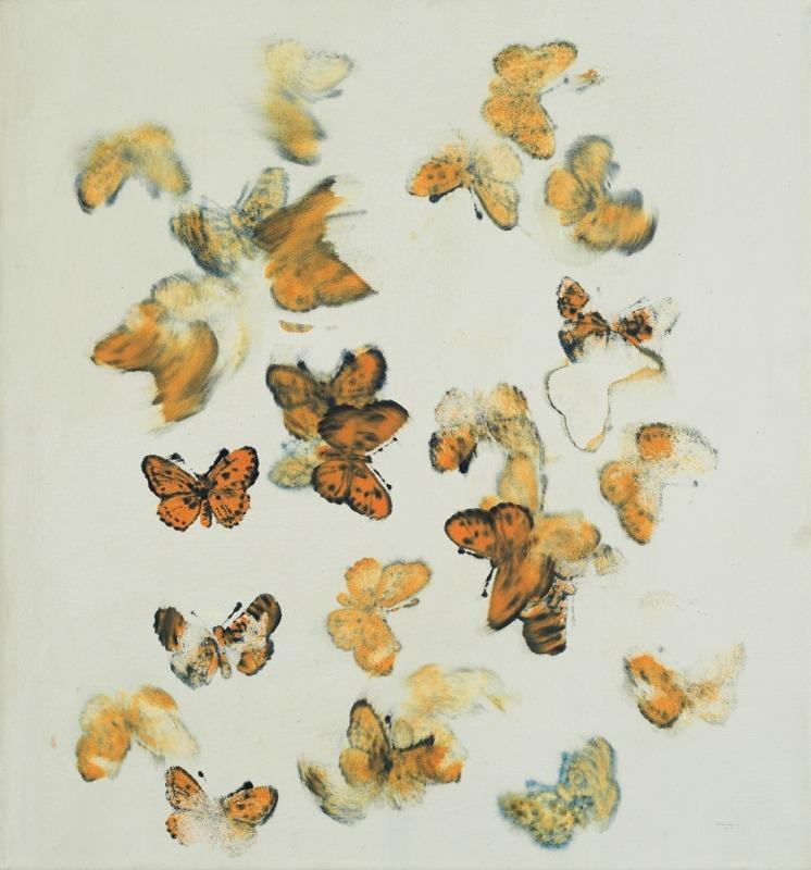 Petr Pastrňák (Czech, b. 1962), Butterflies , 1998-2002. Oil on canvas, 75 x 80 cm.