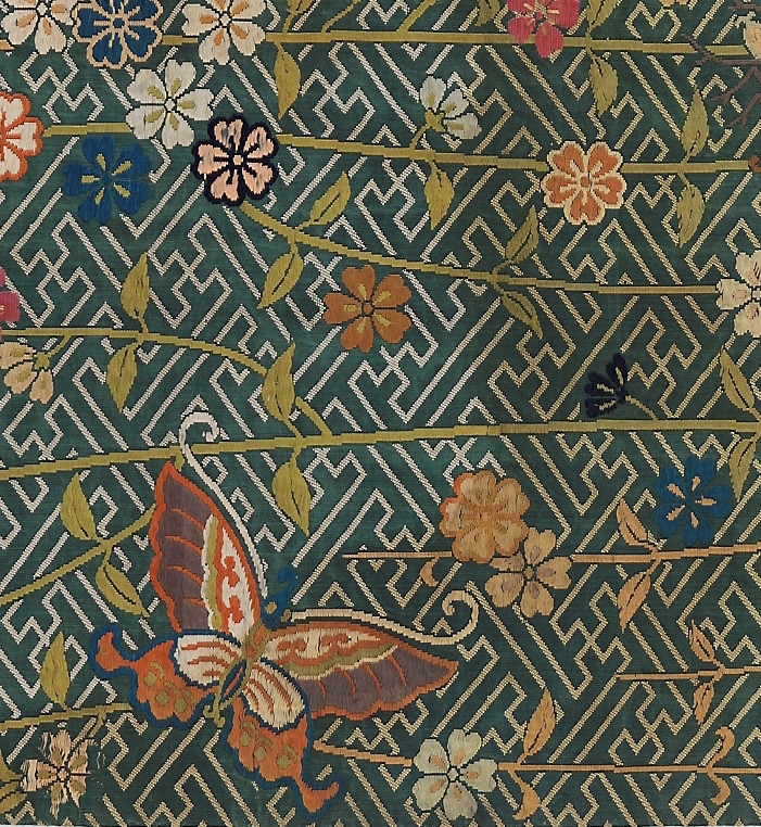 18th Century fabric sample from The National Museum in Oslo.