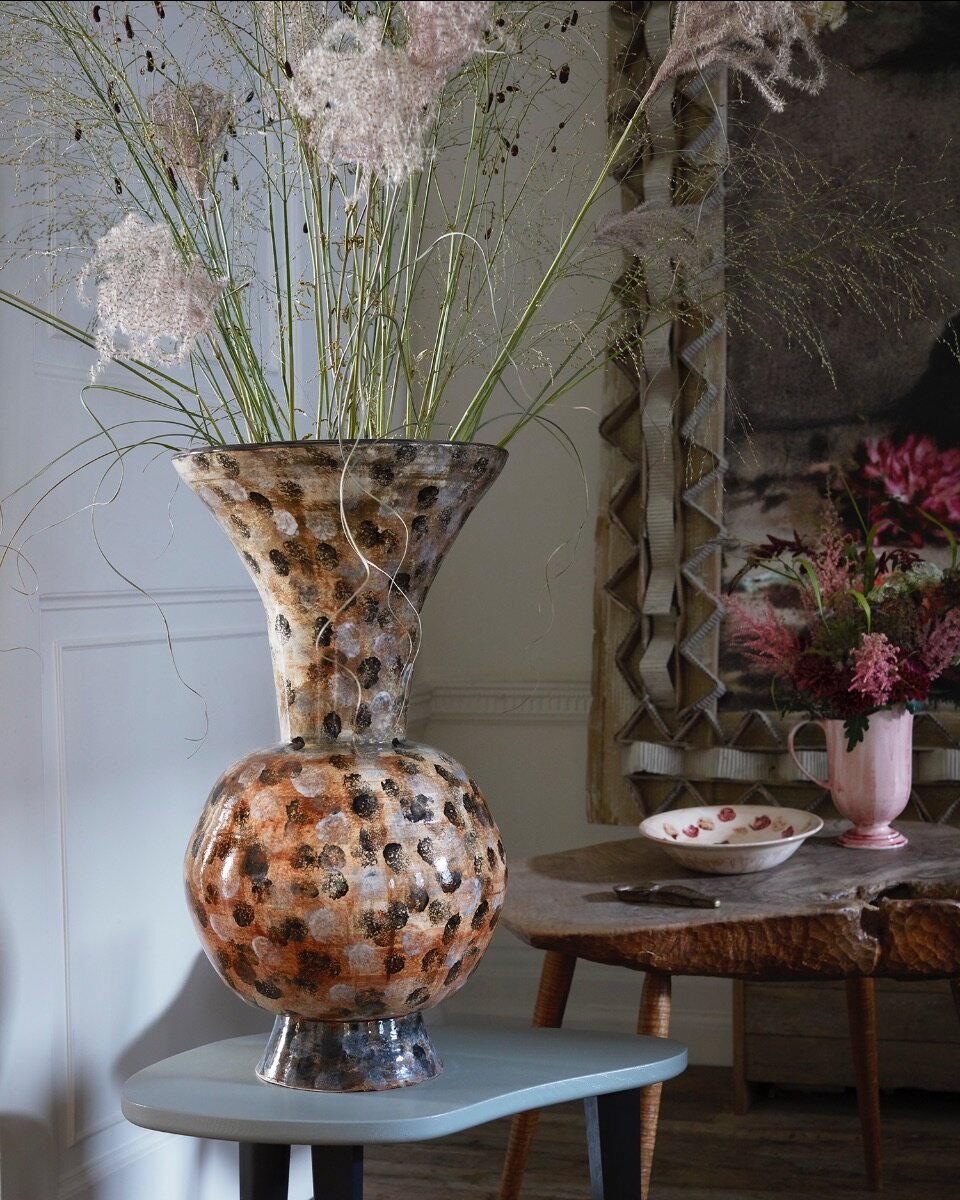 The spotted Penny vase.