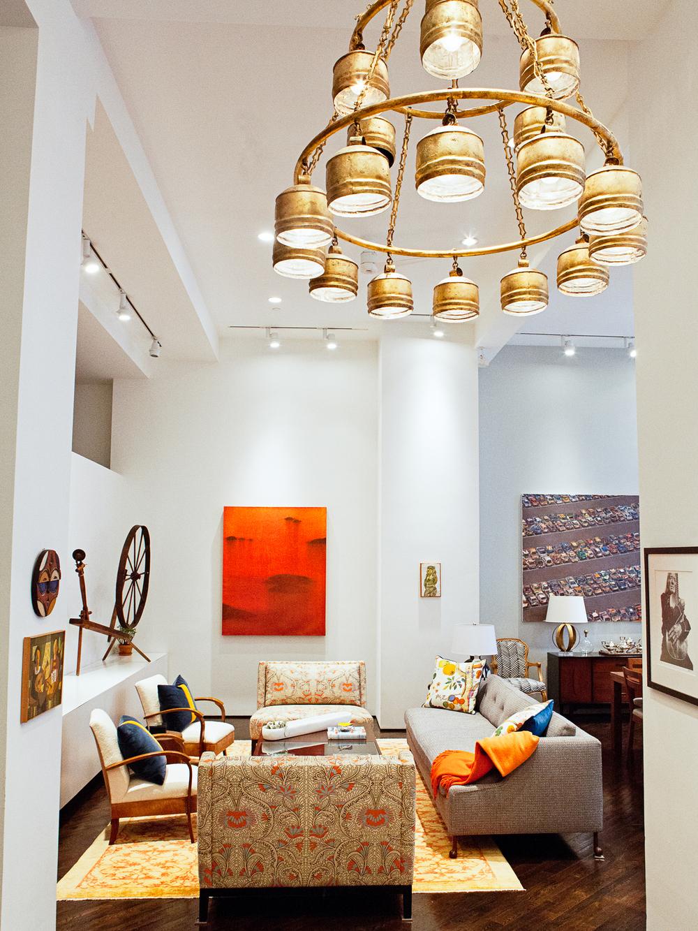 A Tribeca living room designed by Lindsey Lane