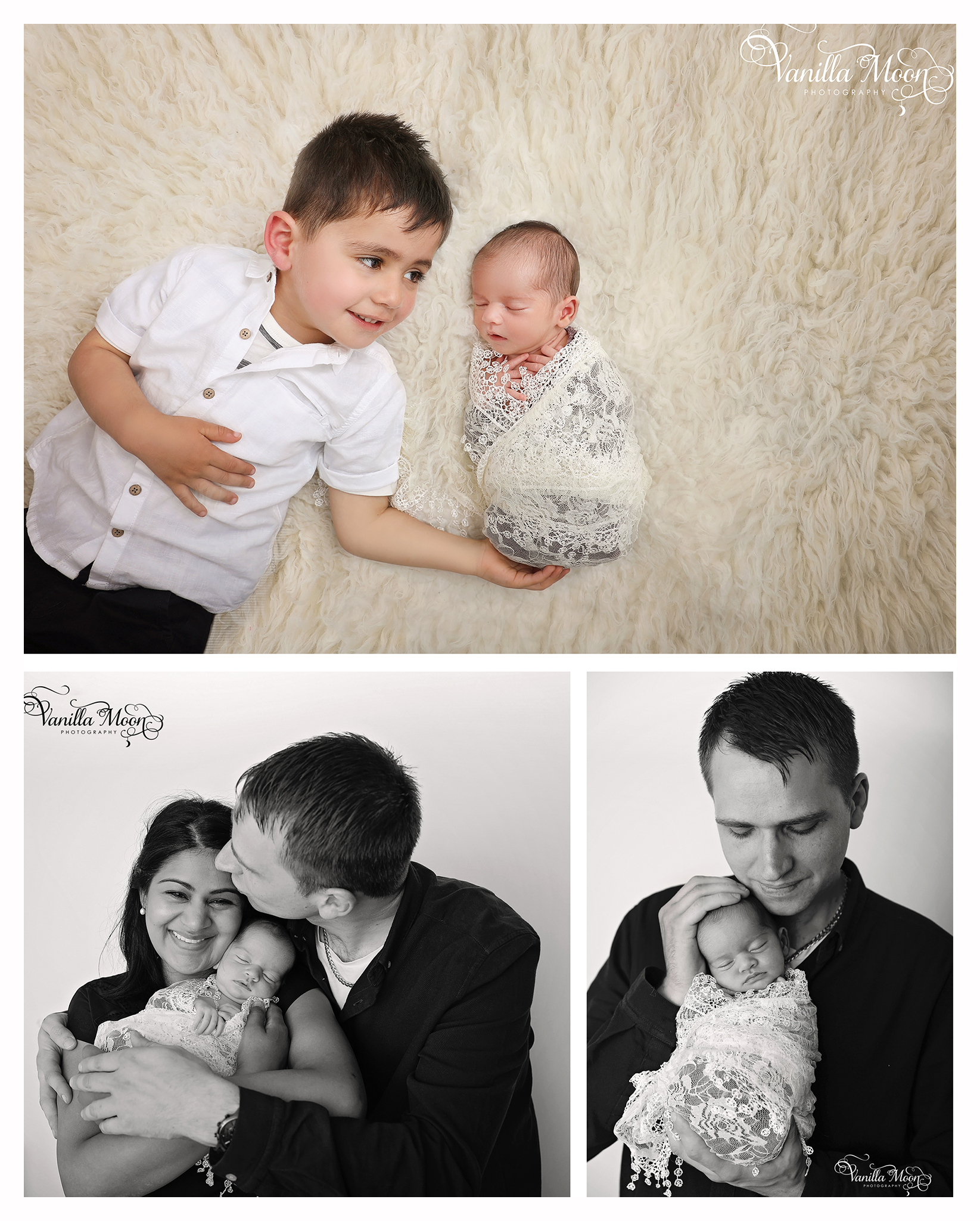 Newborn and family portrait photography