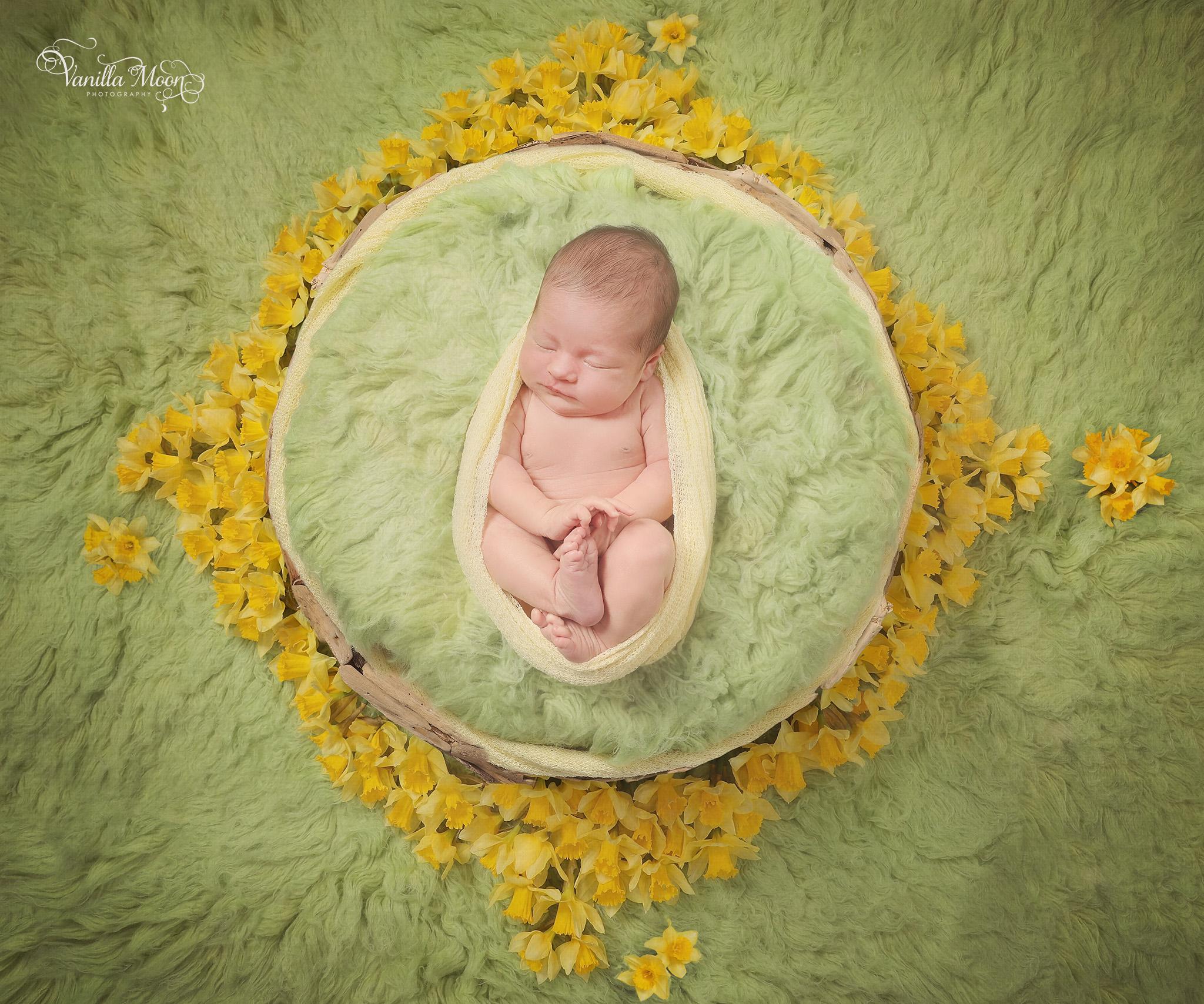 Newborn Photography Spring Blooms Scotland