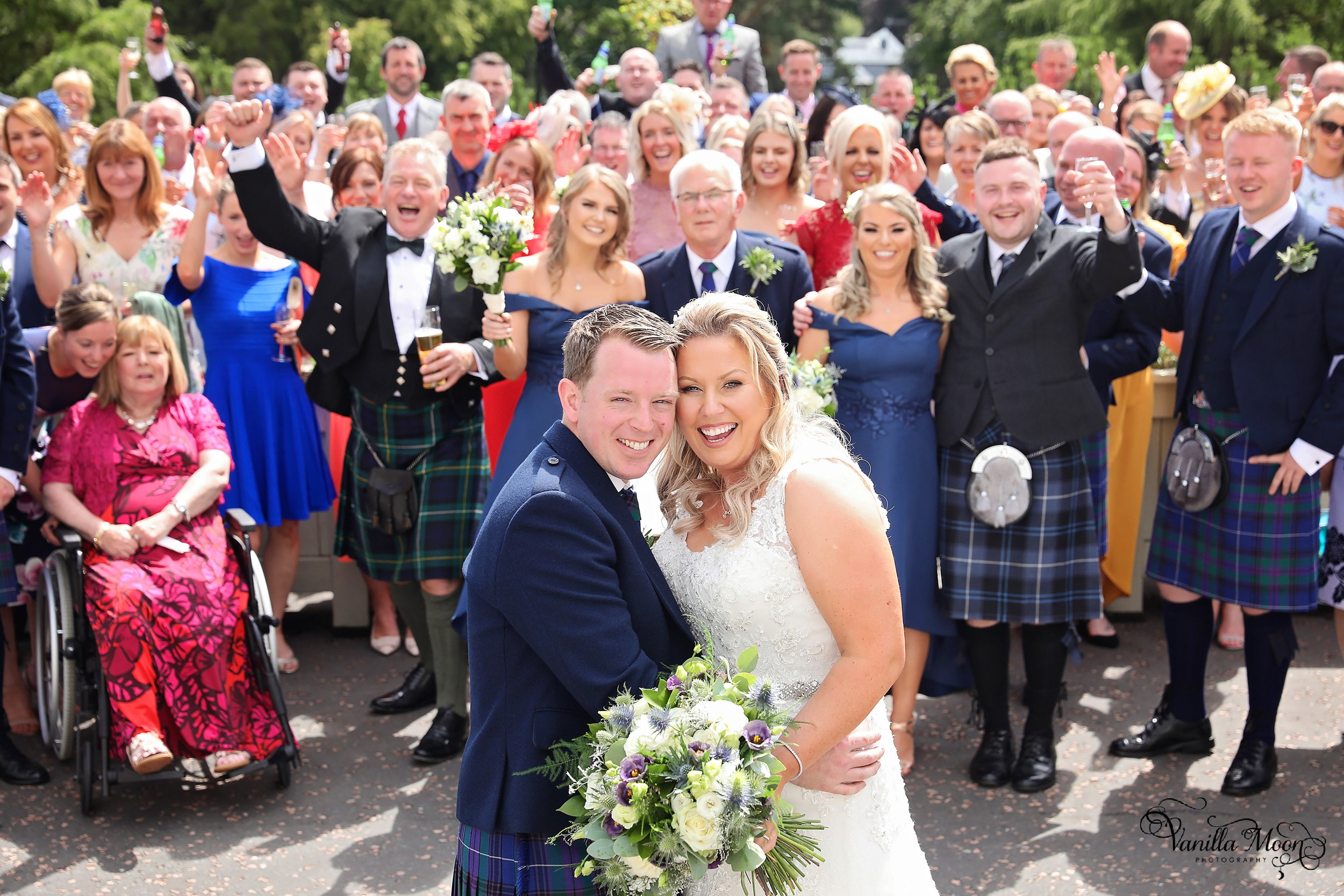 Group wedding photography Peebles, Scotland