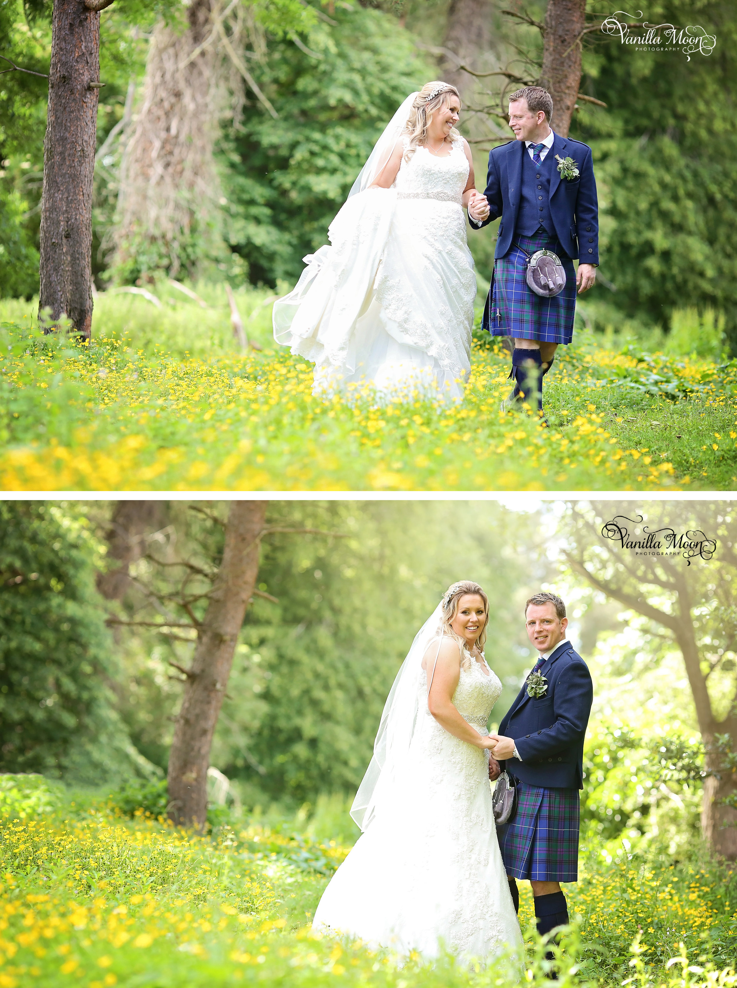 Natural Outdoor Wedding Photography Scottish Borders, Scotland