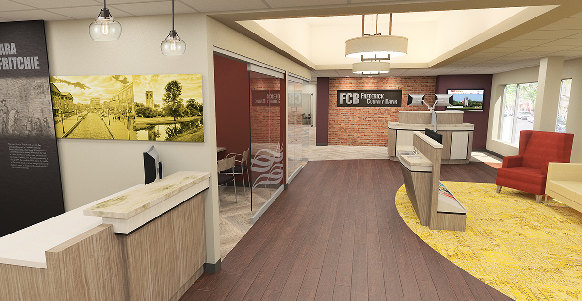Frederick County Bank, designed by DEI Incorporated, reinvents itself with relocations and new designs.