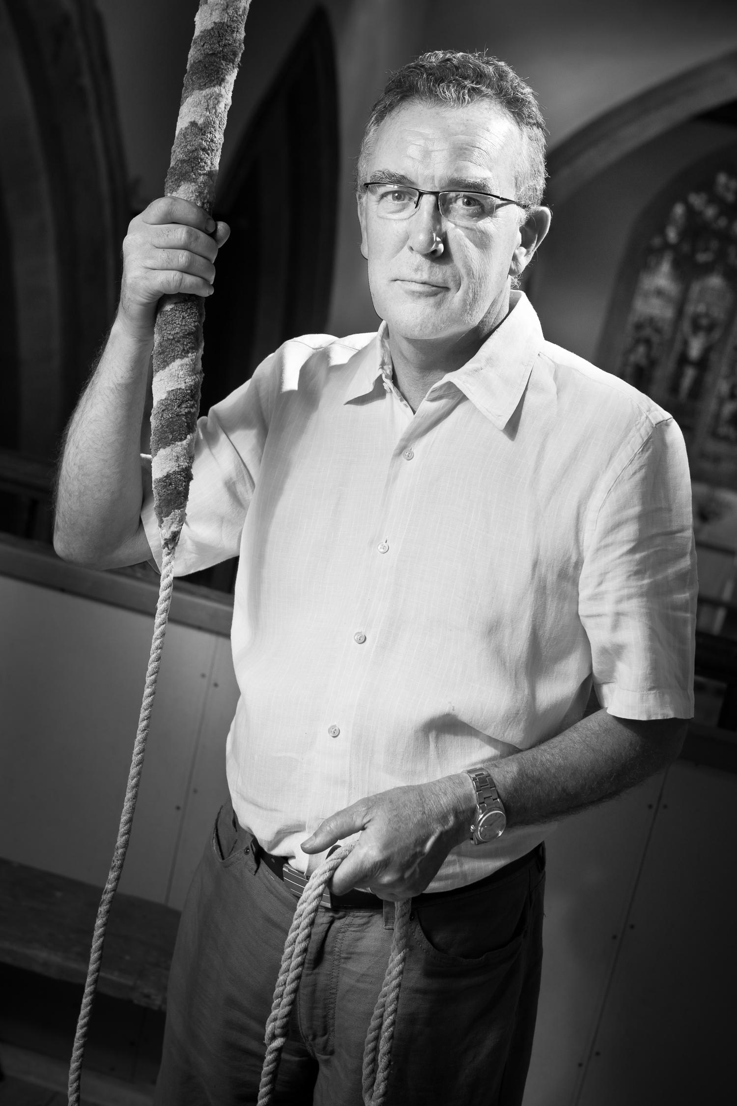 Church bell ringer Tony Smith