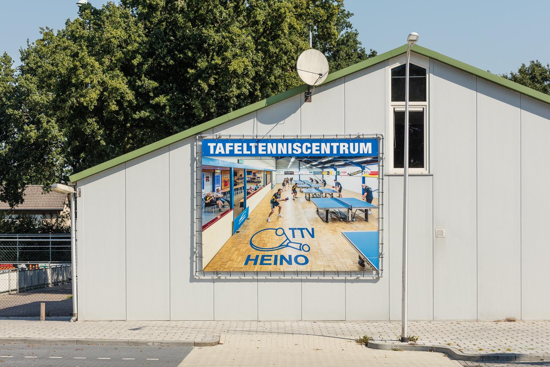Interieurfoto TTV Heino op spandoek van 4 meter breed !