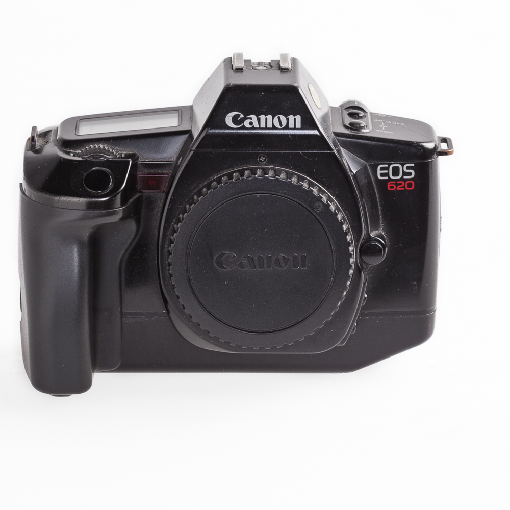 Canon EOS 620, de high-end versie van de 650 (die ik ook had als 2e body) met sluitertijden van 30s-1/4000s en een snelle flitssynchronosatie van 1/250s