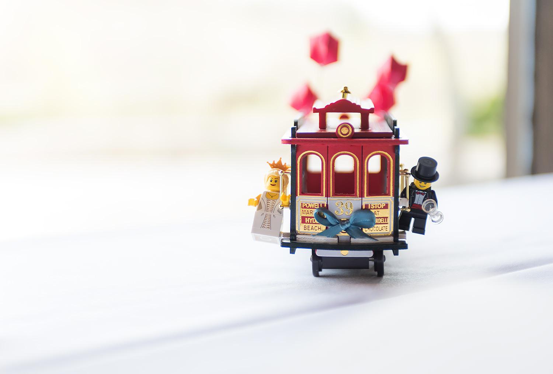 Darby House Ohio Wedding Lego Trolley