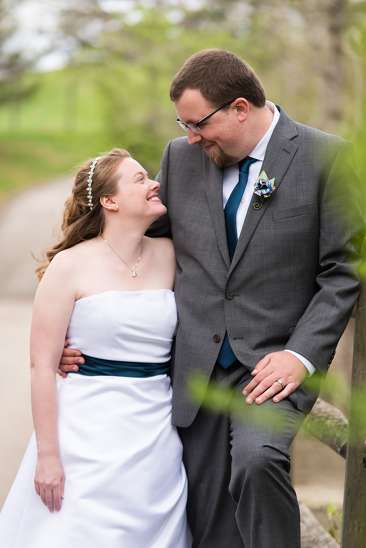 Darby House Ohio Wedding Bride and Groom