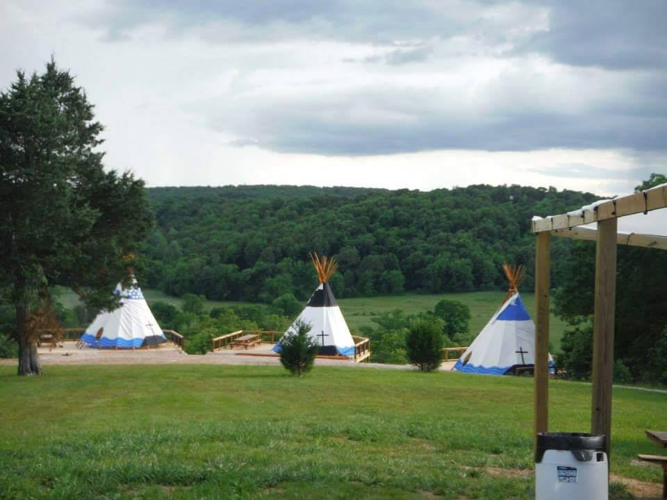 Tipi's from top of the hill