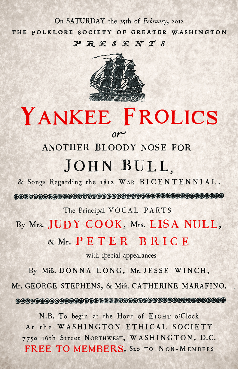 The original  Yankee Frolics  Poster.