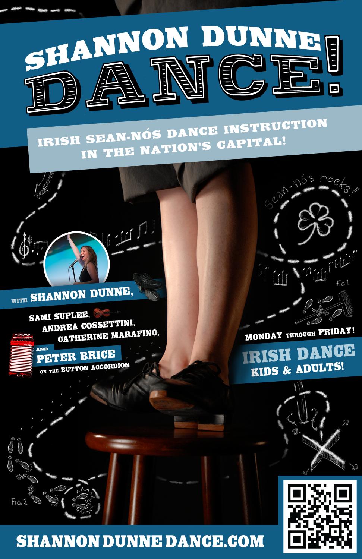 Advertising for  Shannon Dunne Dance  in Washington, DC.