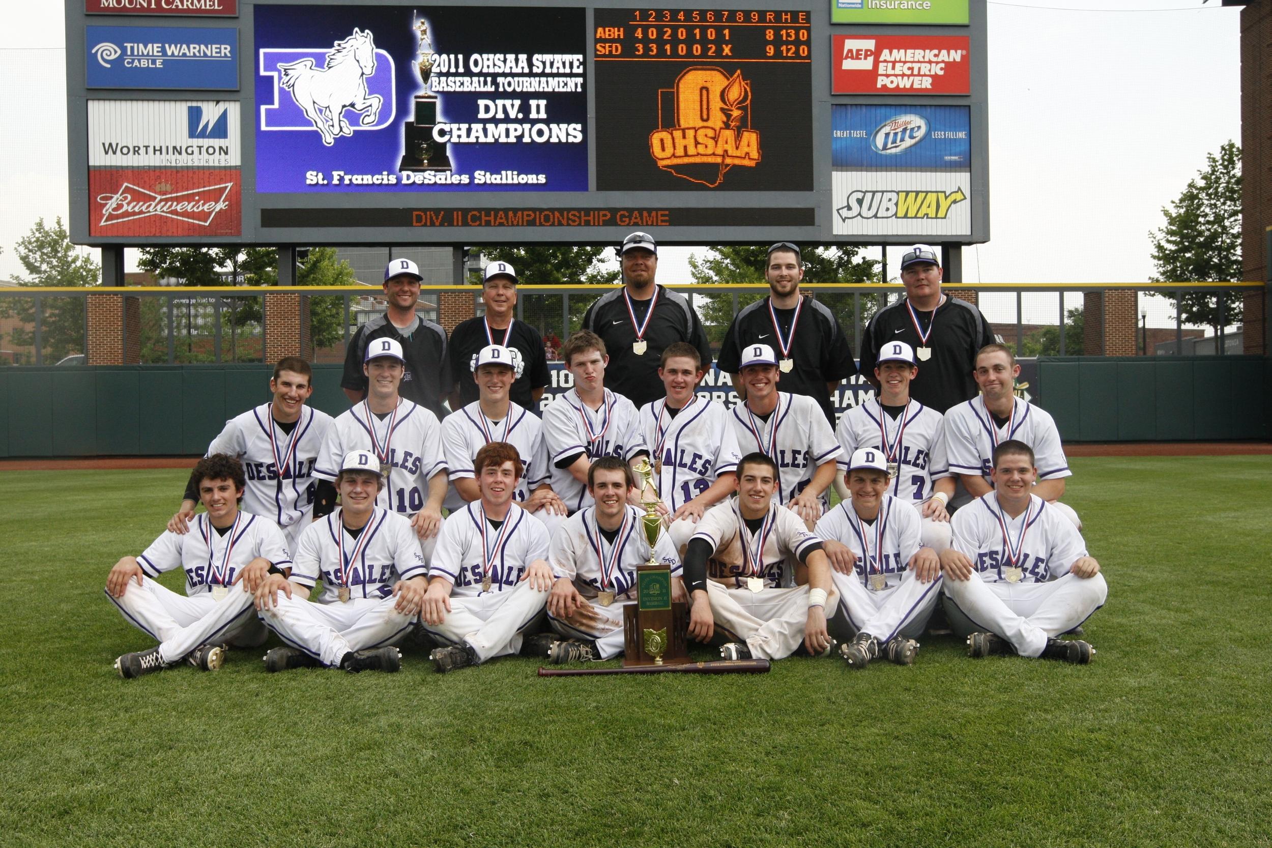 2011 STATE CHAMPIONS  Baseball
