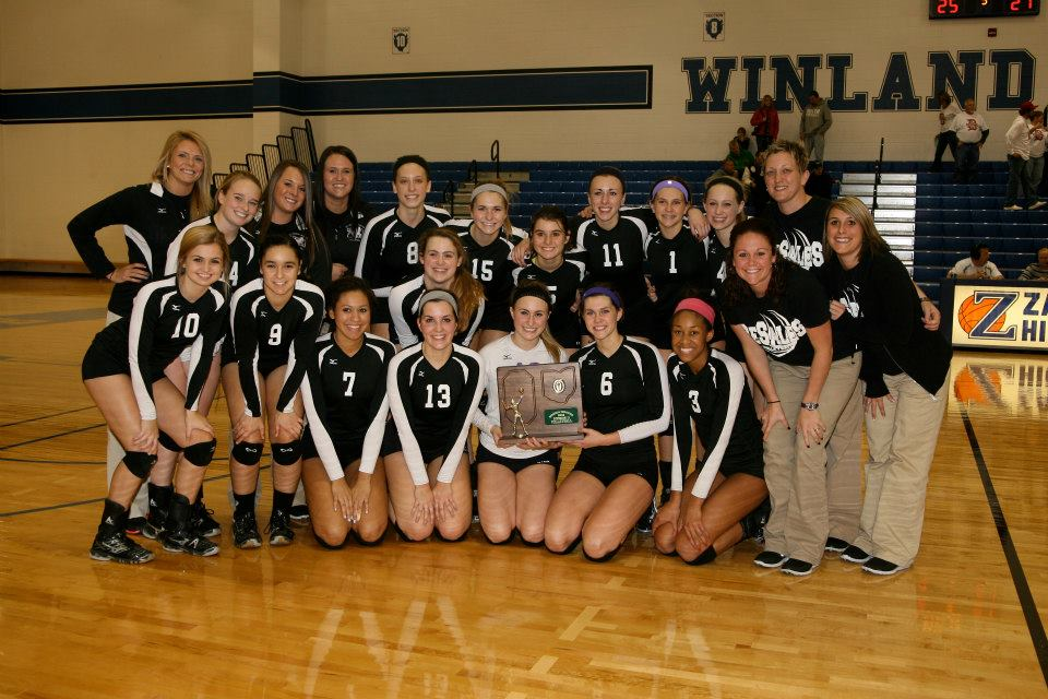 2012 Girls Volleyball  (photo credit - Barb Dougherty)
