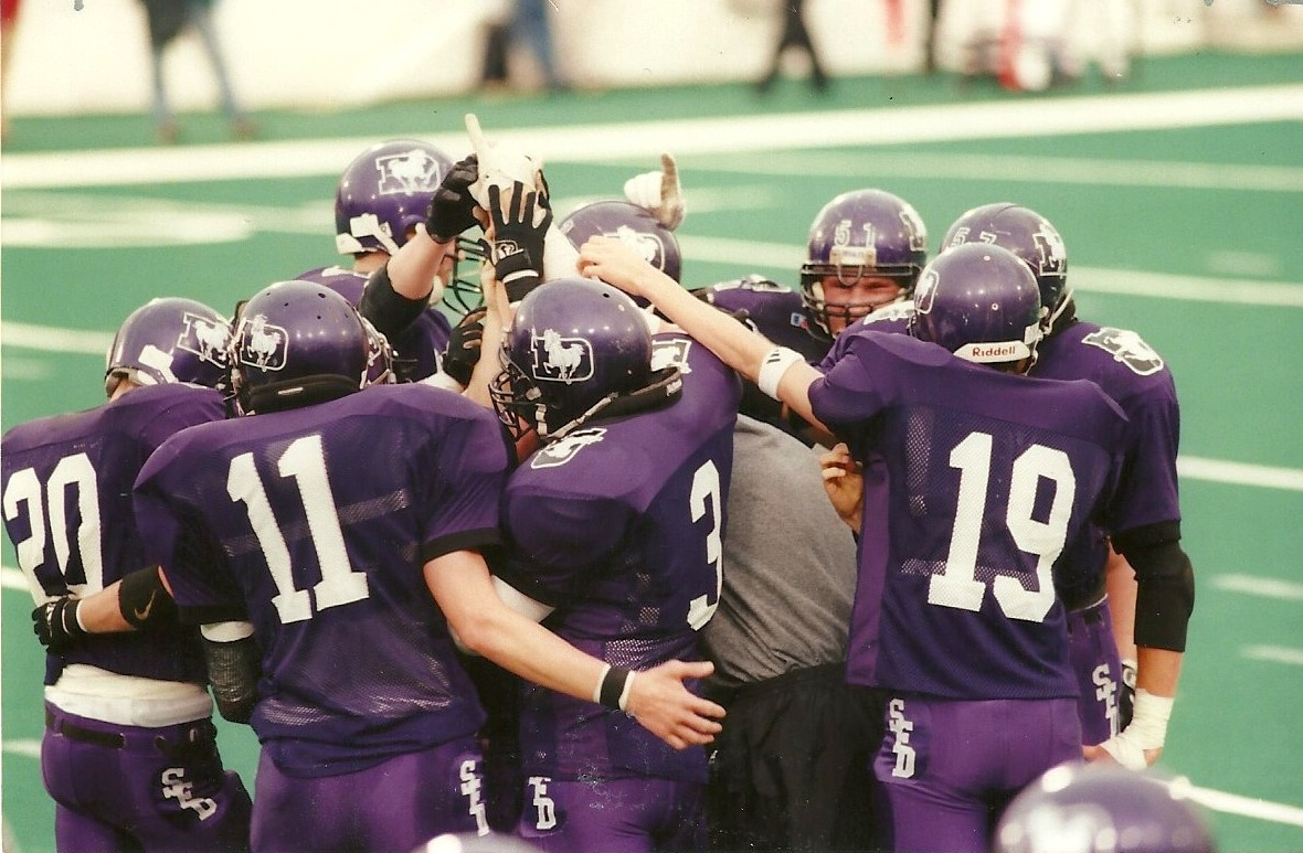State Championship Game huddle