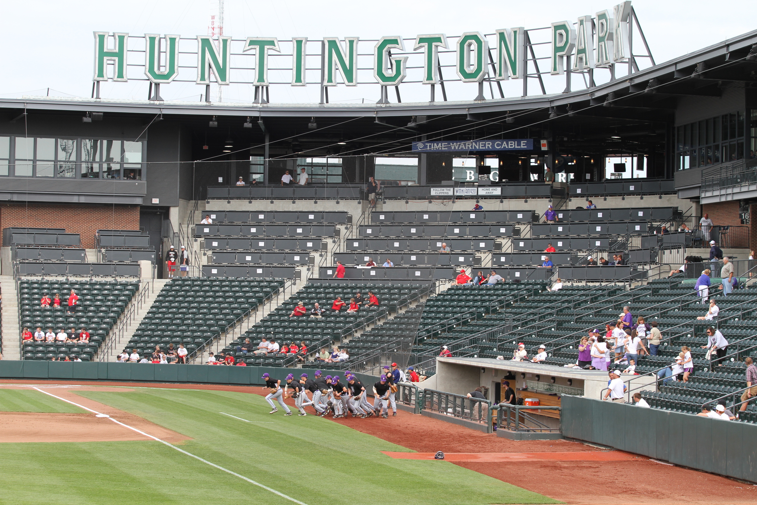 The Stallions take the field for pregame before the State Semifinal