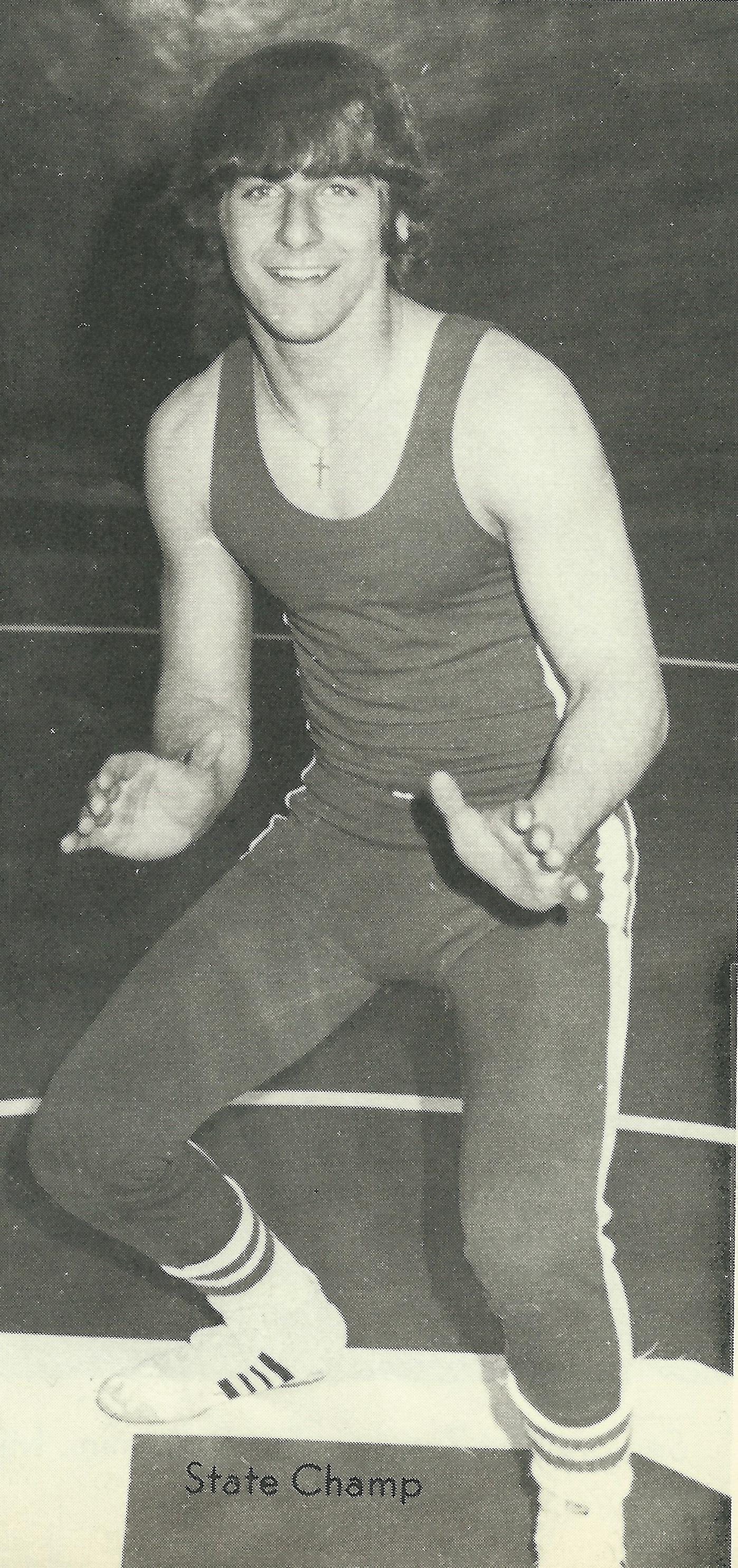 1977 STATE CHAMPION  Tim Palermini, 132 Pounds