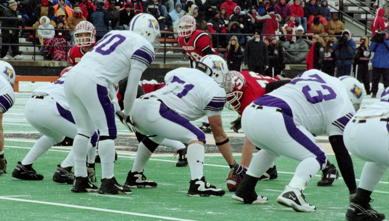 Quarterback Matt Mangini (10) in the State Championship Game