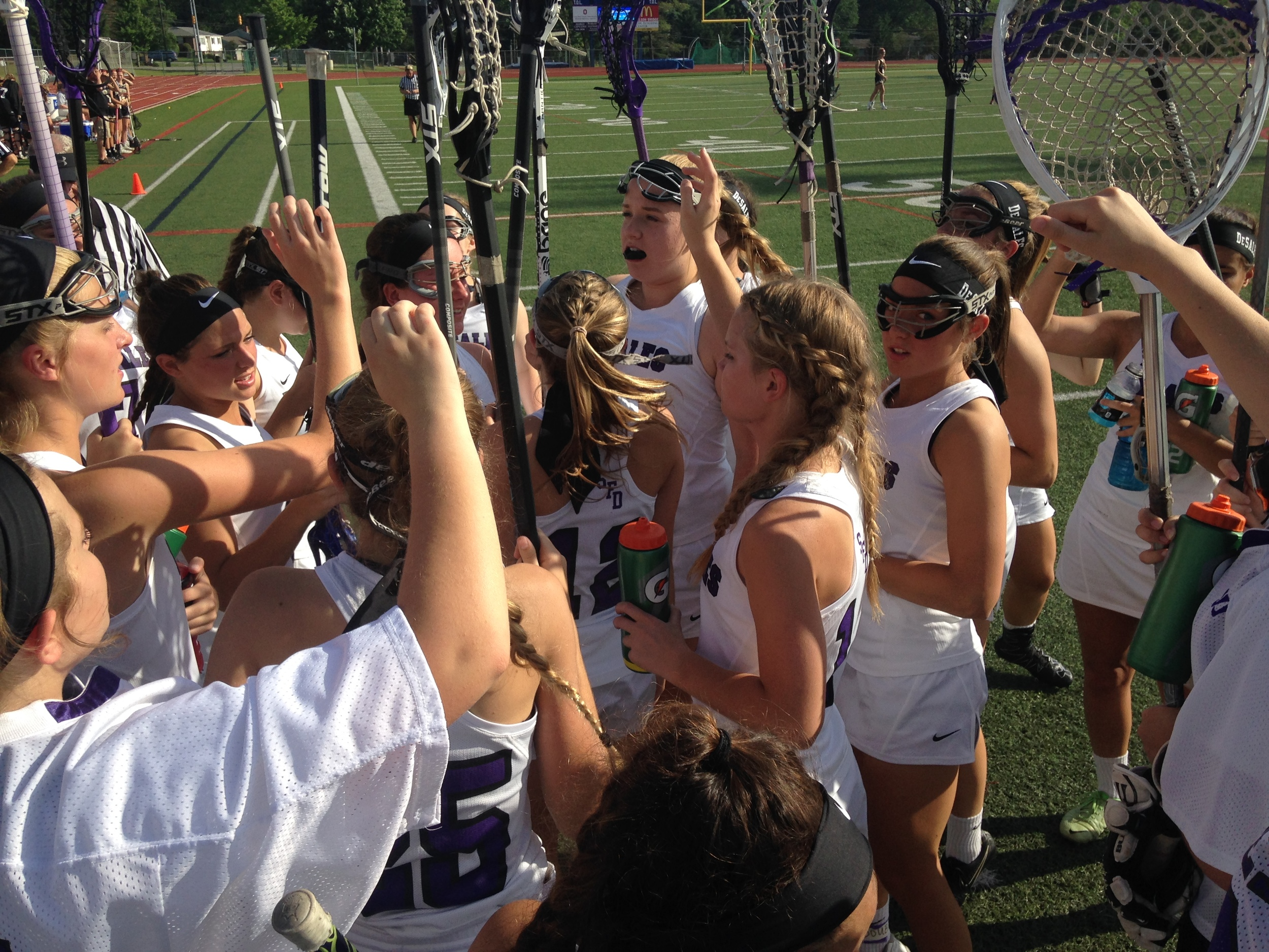 Halftime break in the DII State Semifinal