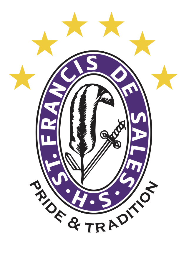 St. Francis DeSales HS Pen And Sword Crest 6 Stars.png