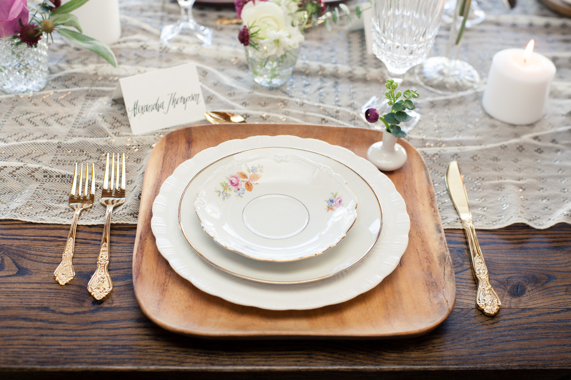 A fun idea to identify the bride and groom's seats amongst guests is to add a floral element to their seats.