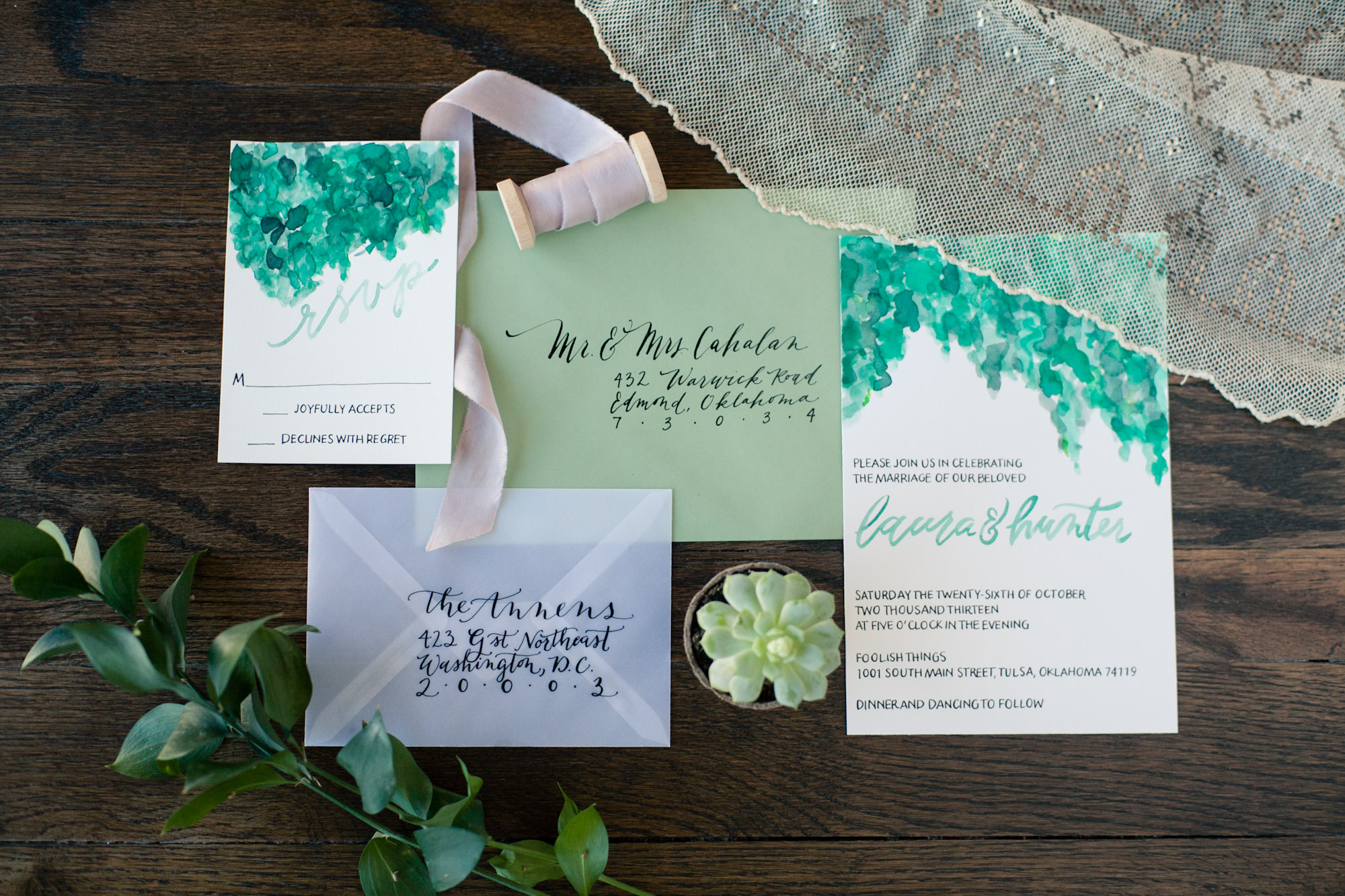 We were lucky enough to work with the following vendors for our fist shoot!  Photography: BCreative Tulsa   Desserts: Antoinette Baking Co.   Flowers: Ever Something  Wedding Dress: Abelina's Boutique   Invitations: Sending Heart Strings   Rentals: Party Pro   Hair and Make Up: Kaci Wright with Dolce Salon