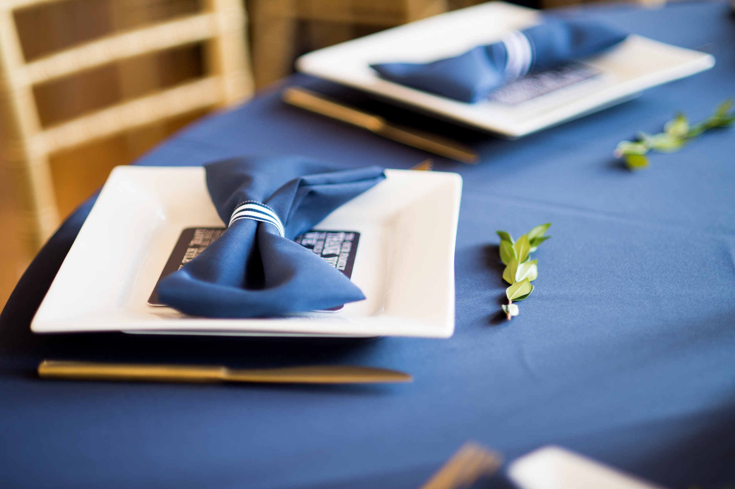 Navy blue and white reception - eversomething.com