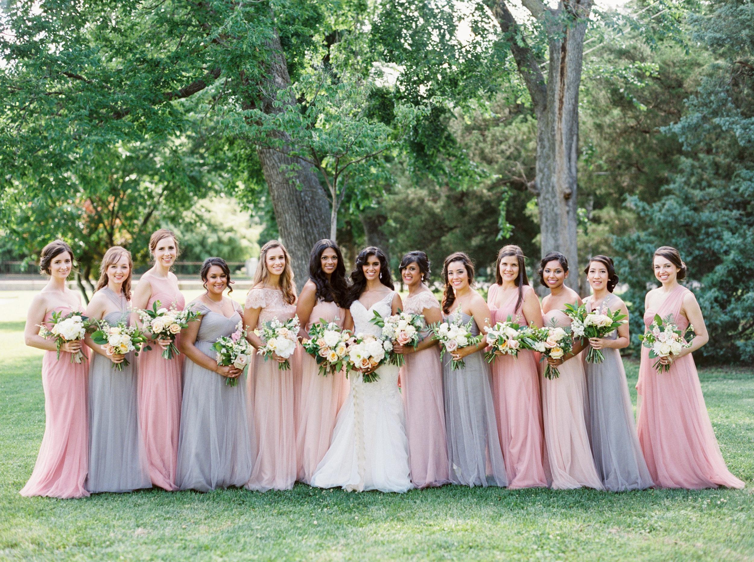 Pastel bridesmaids - Tulsa Garden Center Wedding - eversomething.com
