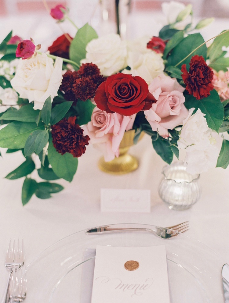 Beautiful Tulsa fall wedding reception at the Mayo Hotel - eversomething.com