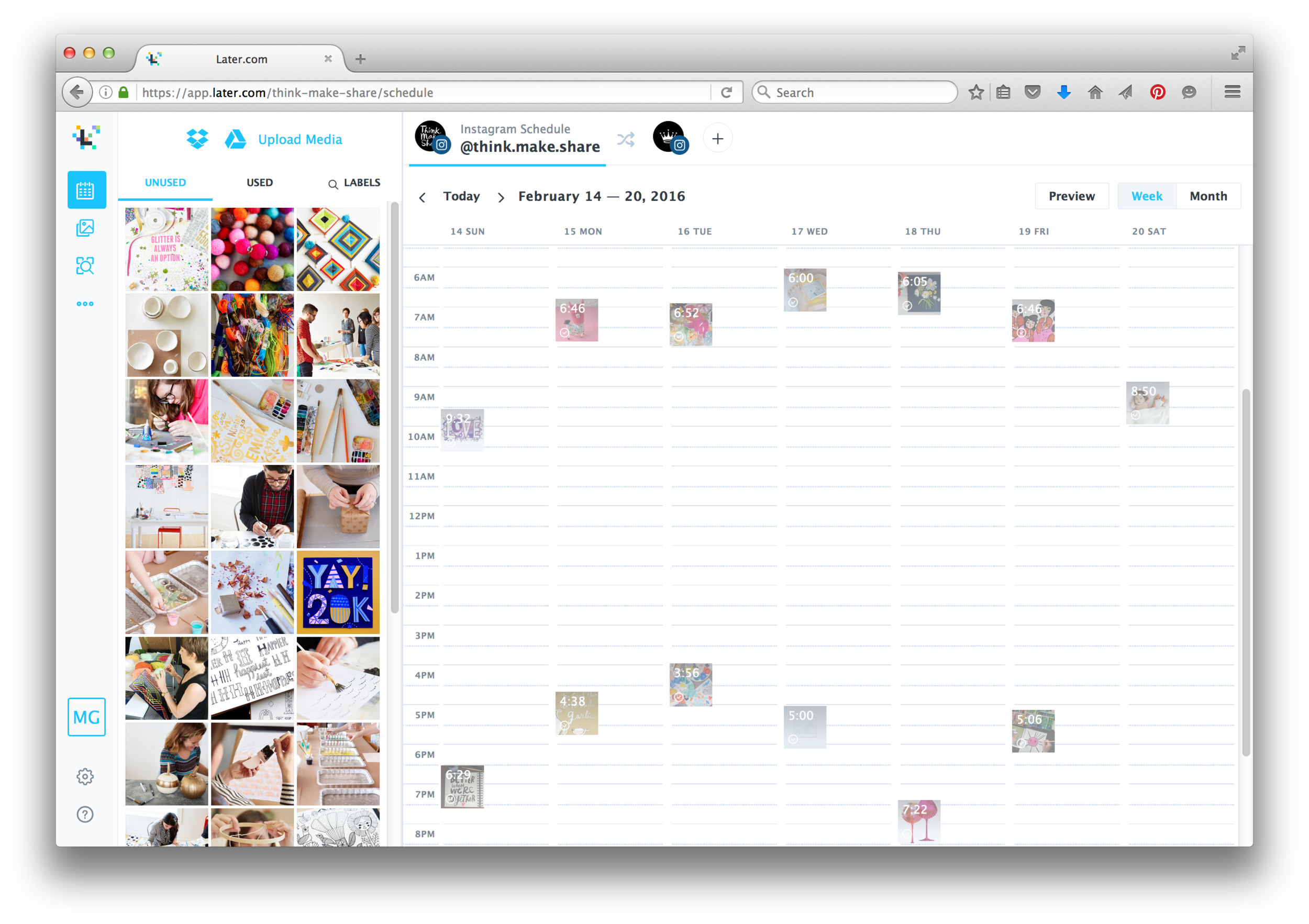 Later.com : Content Calendar Planning Tool