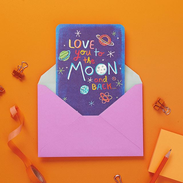 Tag someone you love to the 🌙 and back 🤗. And remember, it's FREE card Friday every Friday through March 22. Stop by any of our @hallmarkstores on Fridays for your free Just Because card💌. No strings attached, no purchase necessary, just sign up to be a Crown Rewards member if you aren't already😊. #JustBecause #FreeCardFriday #GreetingCards