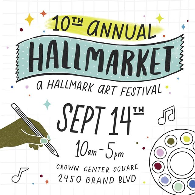 100+ artists? Live music? Food & drinks?! Sign us up! 🎨🙌😍 If you happen to live in Kansas City, come out to support our amazing @Hallmark artists. Today! 10-5! SO EXCITED!! #hallmarket #hallmarklife