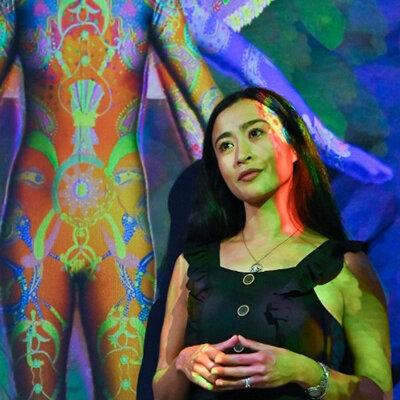 saya-woolfalk-next-to-her-art-installation-visionary-reality-portal-1.jpg